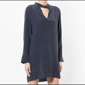 EQUIPMENT Cadence V-Neck Print Silk Dress